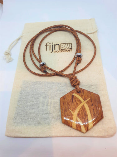 Wooden marquetry pendant-Jewellery-Atelier Crafers
