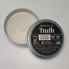 Shaving Soap- Juniper & Cedarwood - Truth Cosmetics 100g - Atelier Crafers