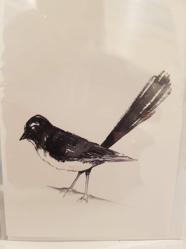 Greeting Card - Willie Wagtail - Paula Schetters-Stationery-Atelier Crafers