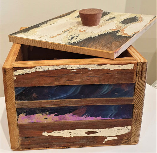Vintage Glass and reclaimed timber box - Stephen Johnson
