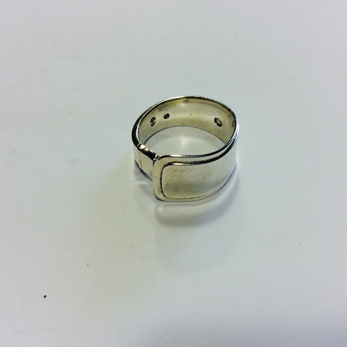 Vintage Danish Sterling Silver Spoon ring - Size T-Jewellery-Atelier Crafers
