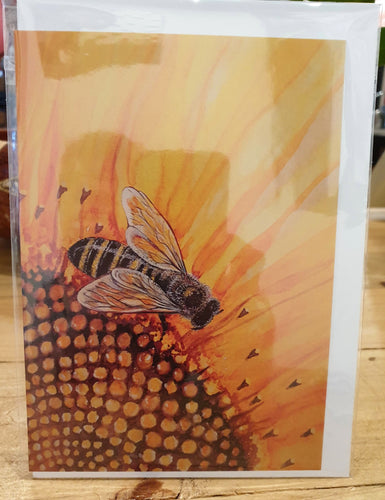 Greeting Card - Bee on Sunflower-Homewares-Atelier Crafers
