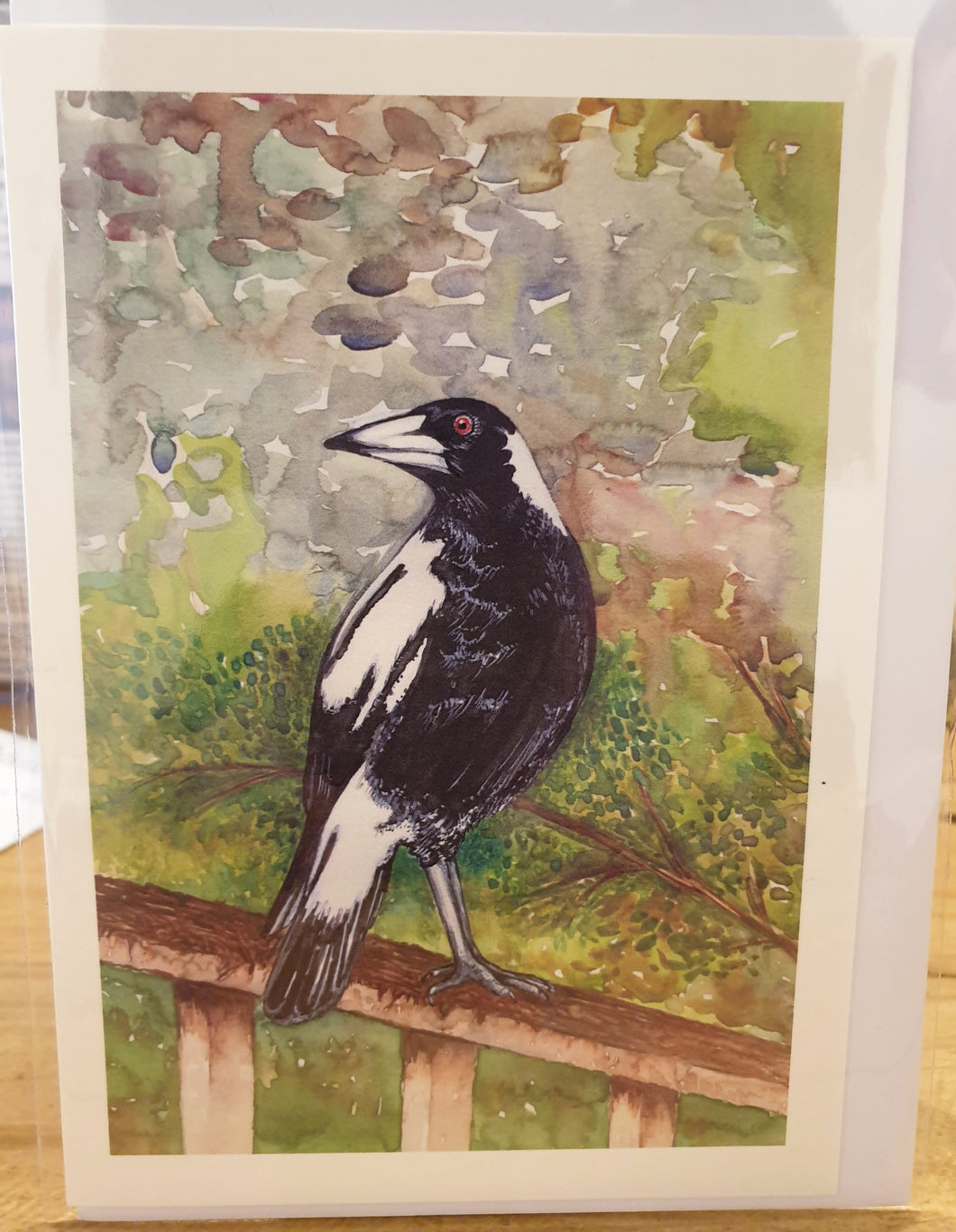Greeting Card - Magpie - Paula Schetters-Homewares-Atelier Crafers