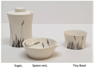 Blackgrass Spoonrest - porcelain by Just Jane Ceramics
