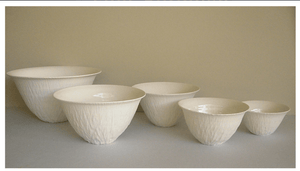 Anemone Ceramic White Salad Bowl - Handmade by Jane Burbidge - small bowl-Homewares-Atelier Crafers