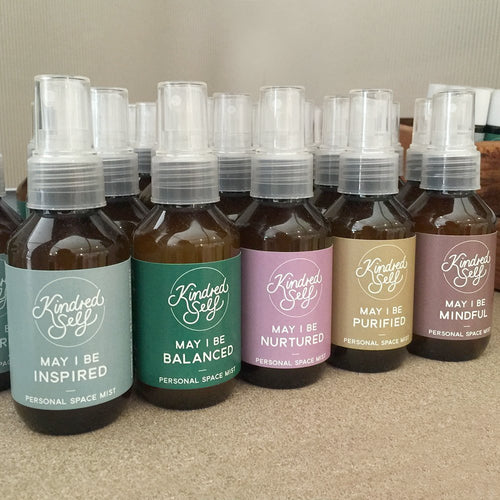 ESSENTIAL OIL PERSONAL SPACE MISTS 100ml - 8 Pure Essential Oil BLends - Kindred Self-Bath & Body-Atelier Crafers
