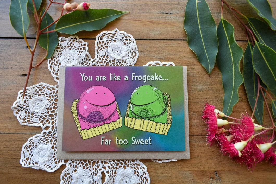 Greeting Card - Frog Cake - Zinia King-Homewares-Atelier Crafers