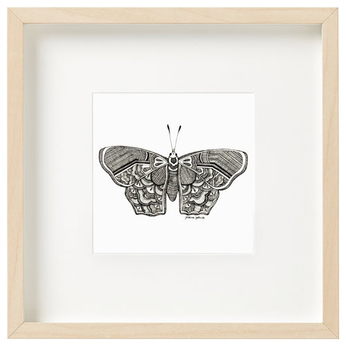 Hanguk - in Butterfly  - unframed mini print - Atelier Crafers