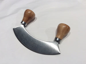 Olive Wood Handle Mezzaluna - Atelier Crafers