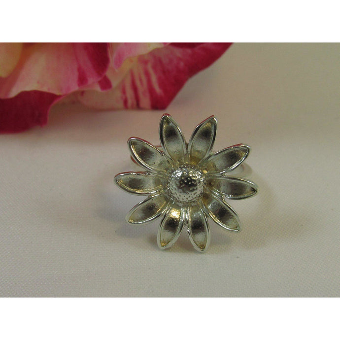 Sterling Silver Flower Ring-Jewellery-Atelier Crafers