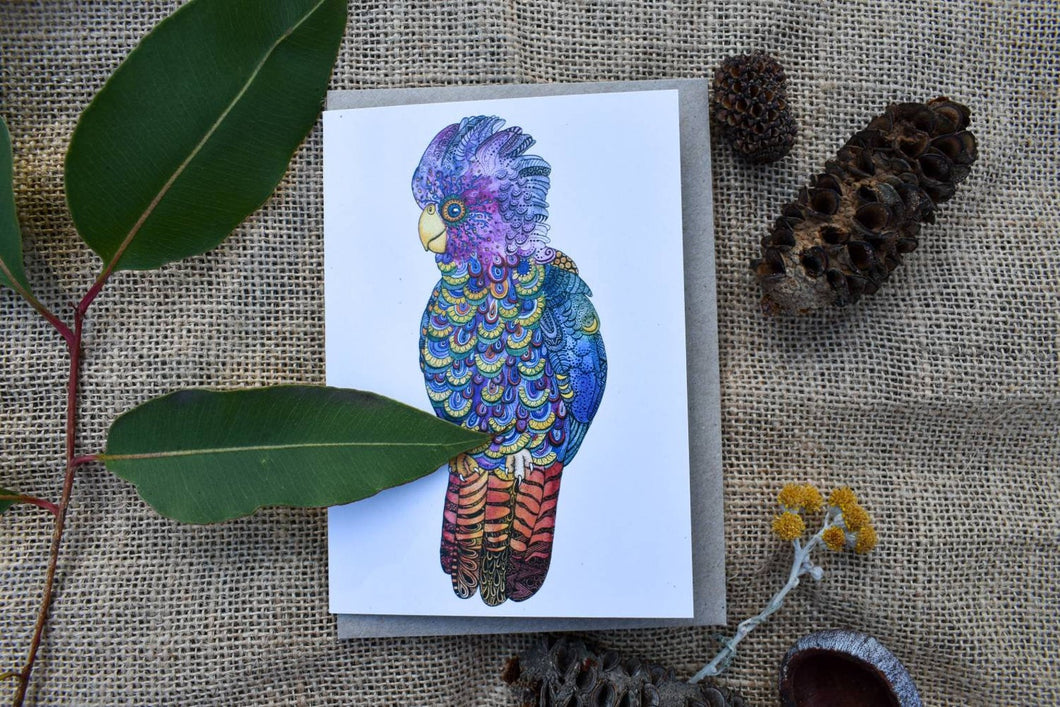 Greeting Card - Rainbow Cockatoo - Zinia King-Homewares-Atelier Crafers