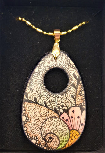 Drop pendant with hole #17 - Helen Kuster