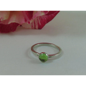 Peridot Sterling Silver Ring-Jewellery-Atelier Crafers