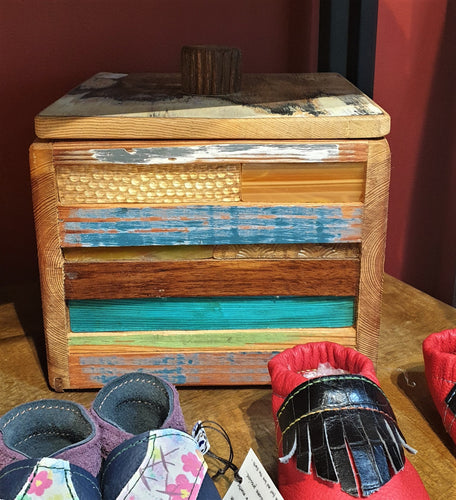Large Treasure box 3 - reclaimed timber and heritage glass