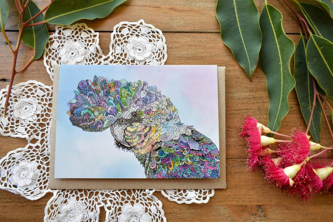 Greeting Card - Colourful Cockatoo - Zinia King-Homewares-Atelier Crafers