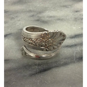 Vintage Sterling Silver Towle 1935 Spoon Ring - Size Z+ - Atelier Crafers