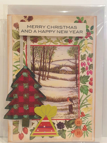 Christmas Cards - Handmade - Merry Christmas And a Happy New Year - Kaye Esplin