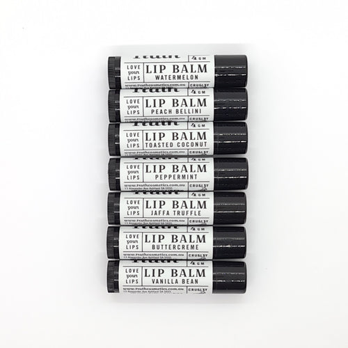 Lip Balm | Vegan | Cruelty Free | Chemical Free | Vanilla Bean | Peppermint | Butter Creme | Watermelon