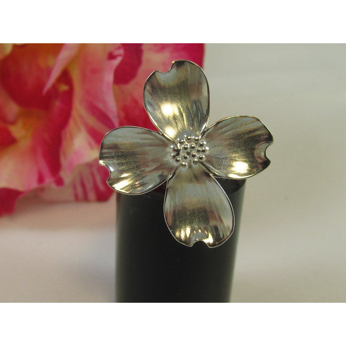 Sterling Silver Dog Rose Ring-Jewellery-Atelier Crafers