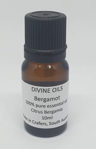 Bergamot 100% Essential Oil 10ml - Divine Oils-Bath & Body-Atelier Crafers