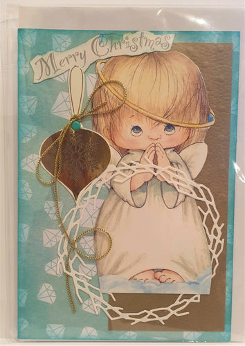Christmas Card - Handmade - Merry Christmas - Angel - Kaye Esplin
