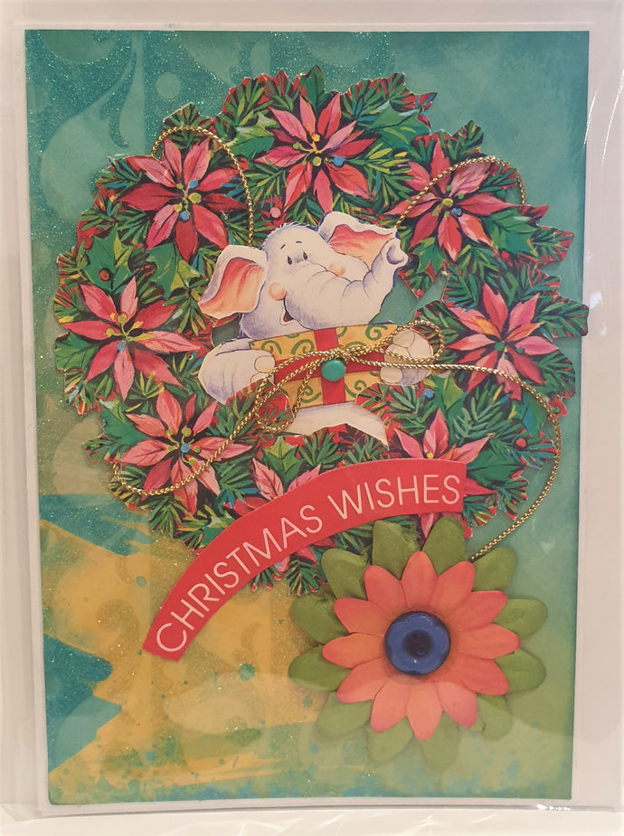 Christmas Card - Handmade - Christmas Wishes - Kaye Esplin