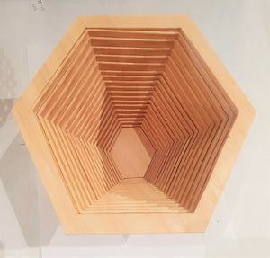 Hexaganal Bowl / Trivet-wooden fruit-Atelier Crafers