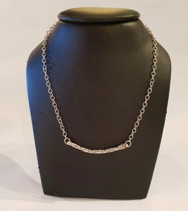 Sterling Silver Bar Necklace-Jewellery-Atelier Crafers