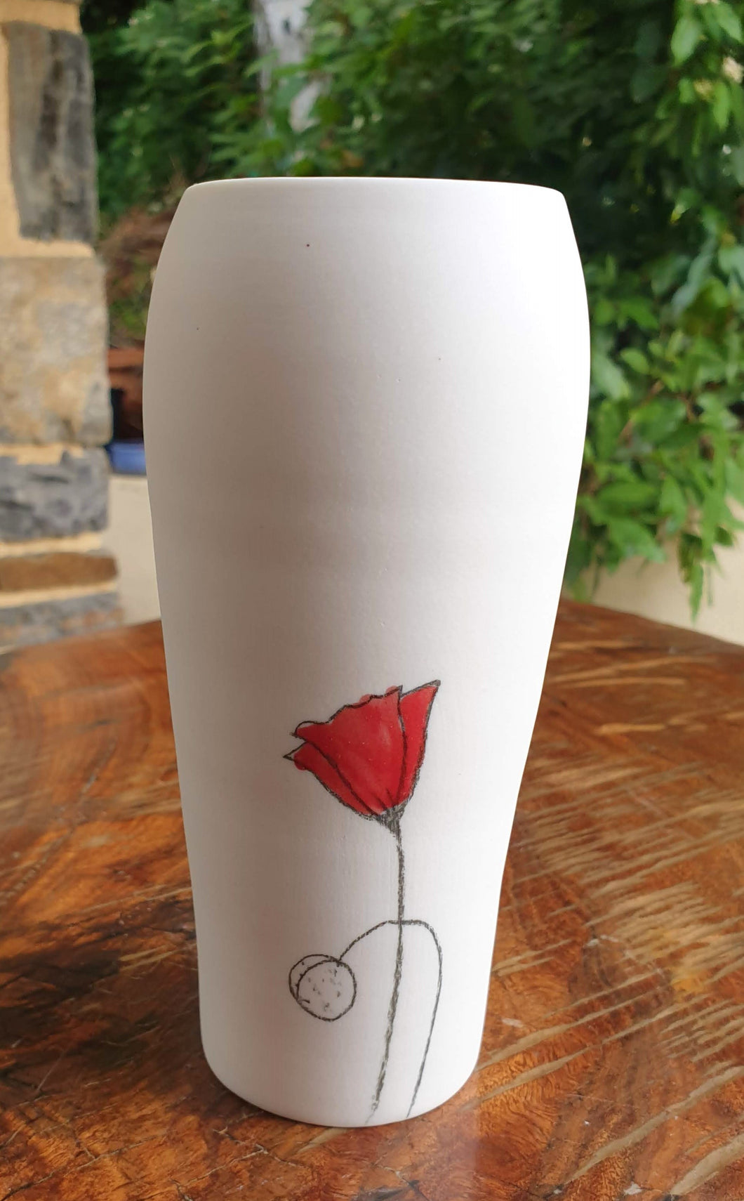 Poppy Vase - small - porcelain by Just Jane Ceramics-Homewares-Atelier Crafers