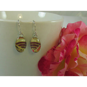 Brown and Gold Chiyogami Earrings-Jewellery-Atelier Crafers