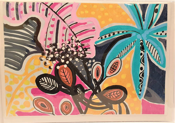 Greeting Card - Tropical Madness - Robin Mellors