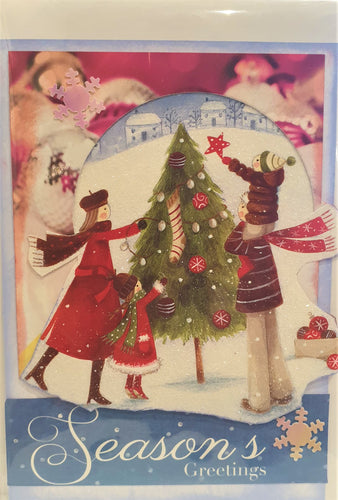 Christmas Card - Handmade - Season's Greetings