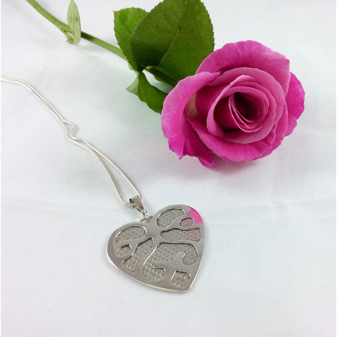 Sterling Silver Heart Pendant-Jewellery-Atelier Crafers