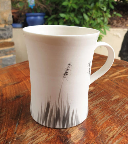 Blackgrass mug - porcelain by Just Jane Ceramics-Homewares-Atelier Crafers