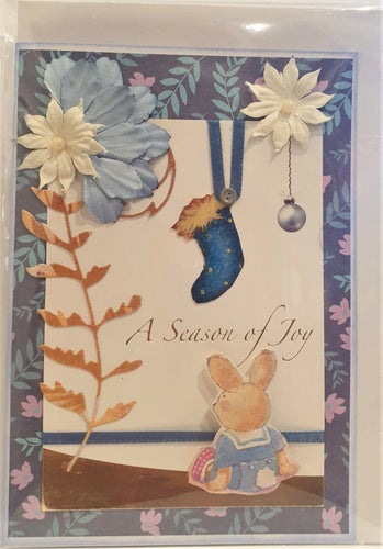 Christmas Card - Handmade - A Season of Joy - Kaye Esplin