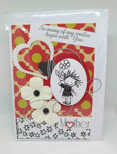 Handmade Mother's Day Cards - So many of my smiles begin with you-Homewares-Atelier Crafers