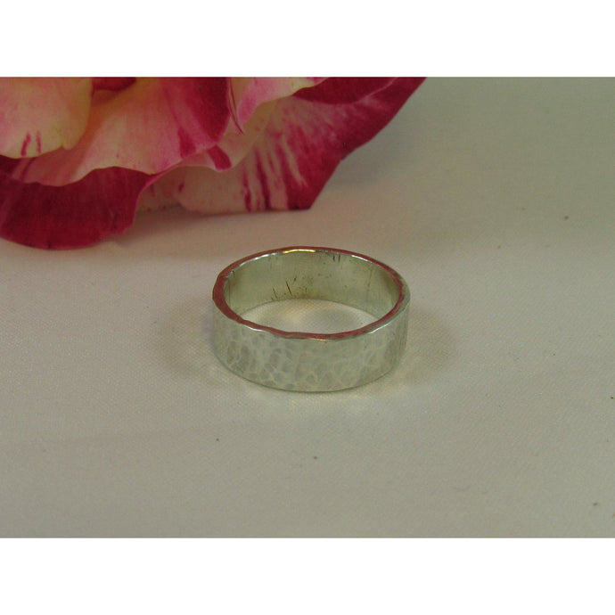 Sterling Silver Hammered Ring-Jewellery-Atelier Crafers