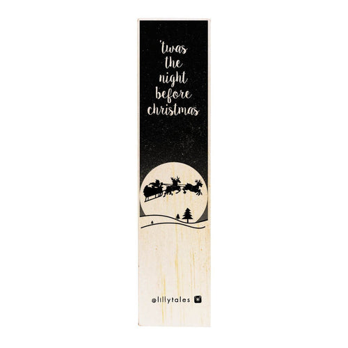 Night Before Christmas | wooden bookmark - Atelier Crafers