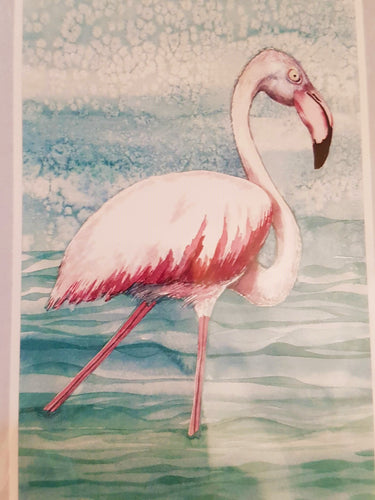 Greeting Card - The Greater Flamingo full body - Paula Schetters-Stationery-Atelier Crafers