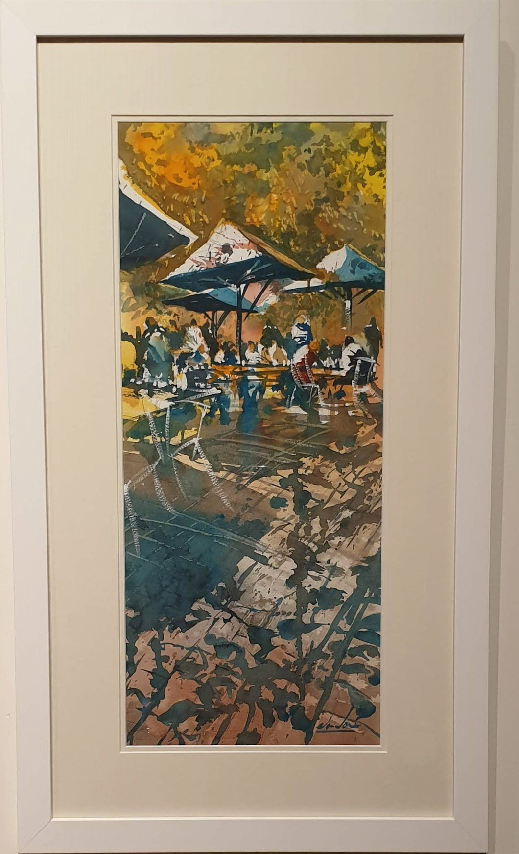 Bridgewater Al Fresco - watercolour by Alan Ramachandran-Art Gallery-Atelier Crafers