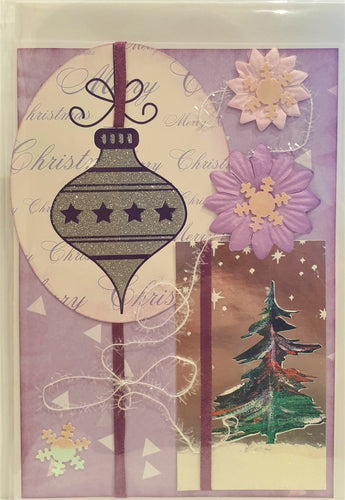 Christmas Card - Merry Christmas - Bauble - Kaye Esplin