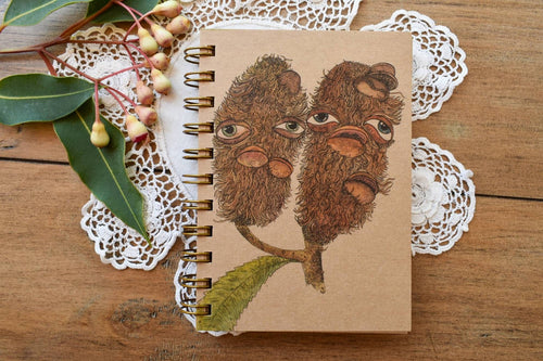 'Banksia Ladies' 100 page A6 Notebook with kraft paper-Stationery-Atelier Crafers