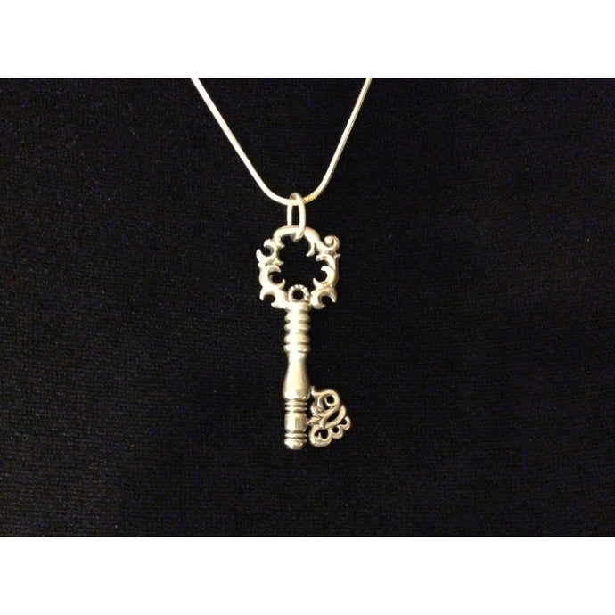 Sterling Silver Key Pendant-Jewellery-Atelier Crafers