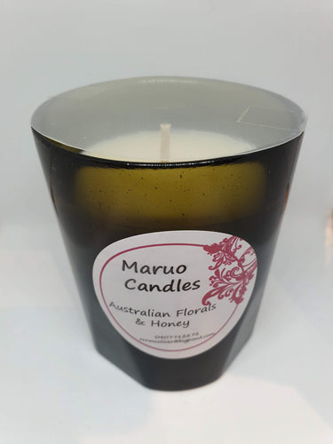 Scented Soy Candle - Australian Florals & Honey - vintage black glass-Homewares-Atelier Crafers