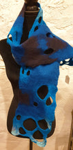 Load image into Gallery viewer, Hand Felted Blue Wool Scarf - Ania Herburt-Fashion and Accessories-Atelier Crafers