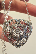 Load image into Gallery viewer, inticate silver pendant