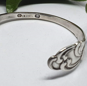 Antique Art Nouveau Fork Cuff - Silver Rose Jewellery-Jewellery-Atelier Crafers
