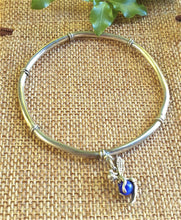 Load image into Gallery viewer, silver bangle with fairy dangle