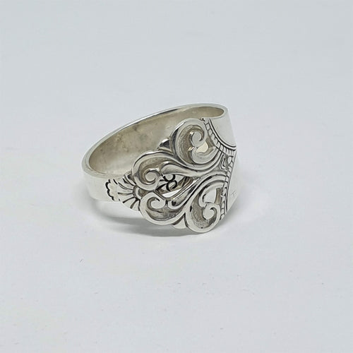 Vintage TH Marthinsen 1936 Spoon Ring - size O/7.5-Jewellery-Atelier Crafers