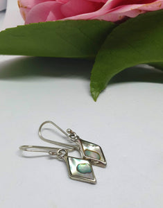 Paua shell and sterling silver earrings - Silver Rose Jewellery-Jewellery-Atelier Crafers